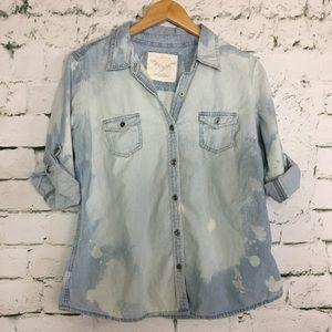 Tops - Denim button down shirt.